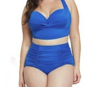 Other - Plus Size Blue Two Piece Swimsuit Bathing Suit